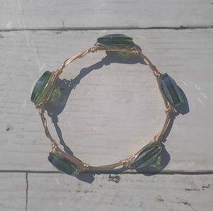 Jewelry - Green Stone Bangle